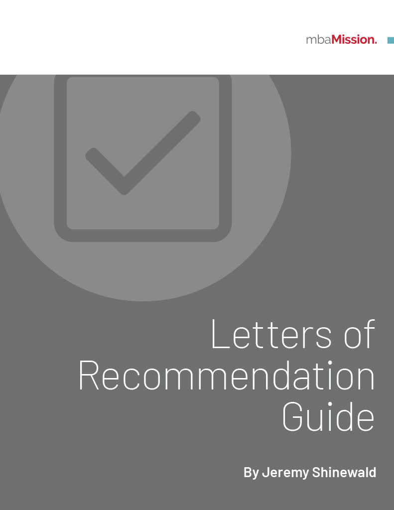 mbaMission Letters of Recommendation Guide