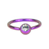 Captive Bead Ring with Clear Press-Fit Gem Ball