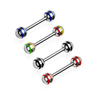 Tongue Barbell with Stripe Ball Tips