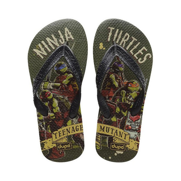 Flip Flops für Kinder Dupé Teenage Mutant Ninja Turtles Grün