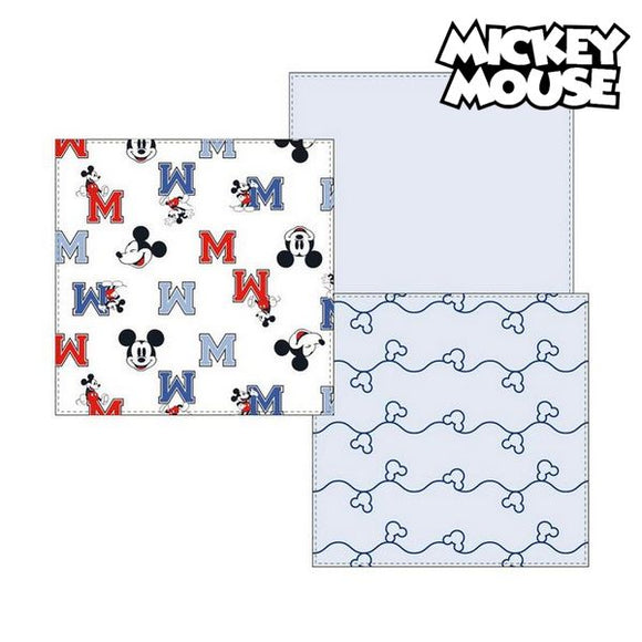 Musselin-Tuch Mickey Mouse 75380 Blau (3Er pack)