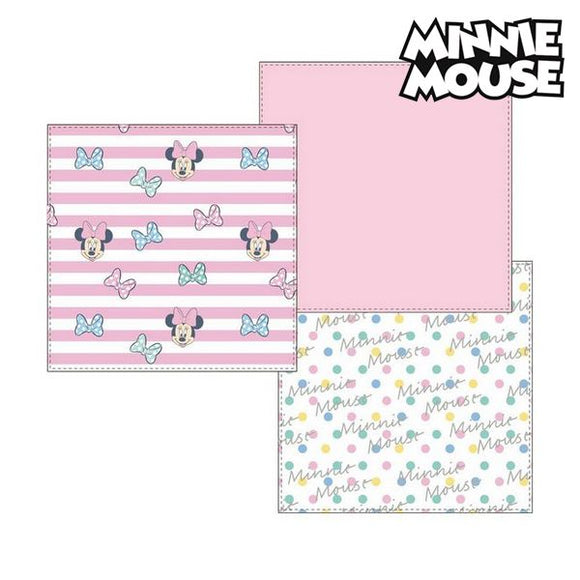 Musselin-Tuch Minnie Mouse 75401 Rosa (3Er pack)