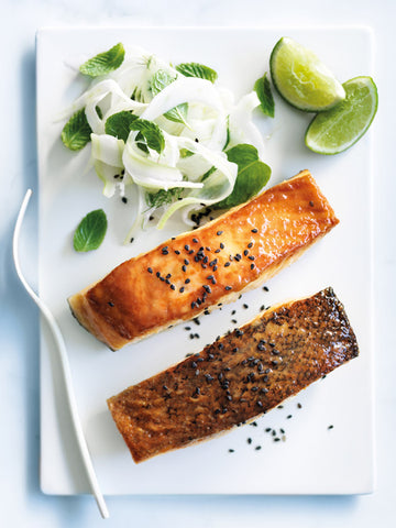 Miso Orange Glazed Salmon By Donna Hay - Healthy Quick Yum