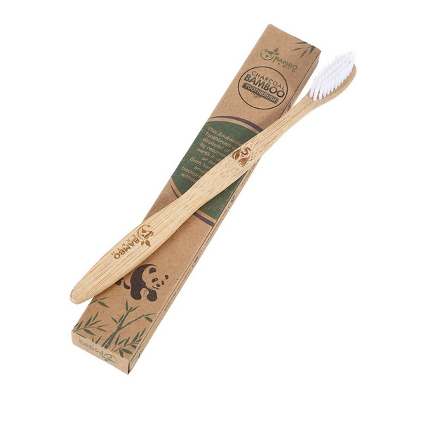 SINGLE BAMBOO TOOTHBRUSH - WHITE BRISTLES