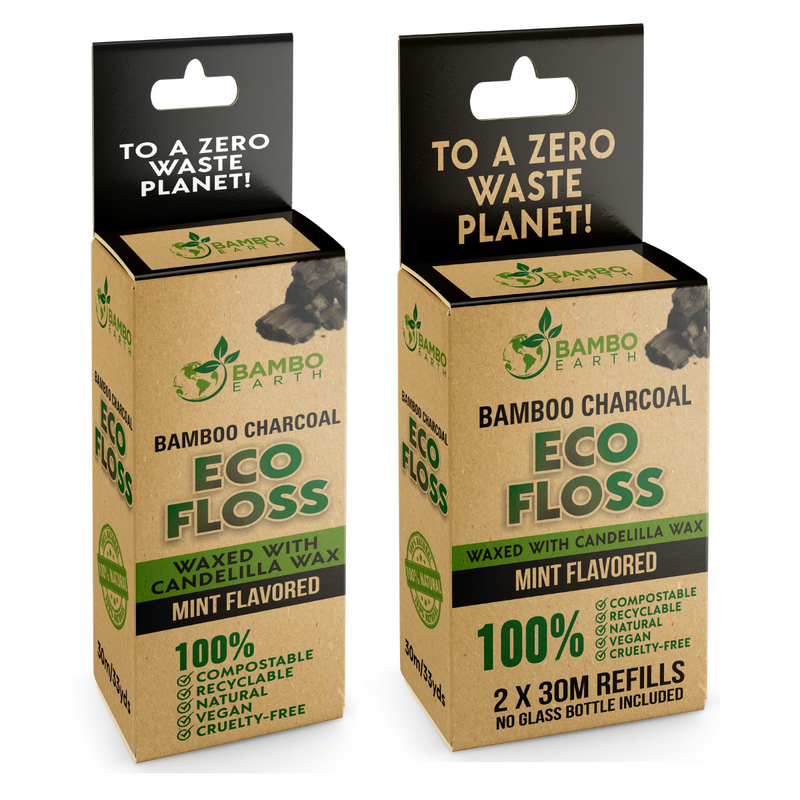 Eco Dental Bamboo Charcoal Floss 2x Refills