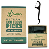 Eco Floss Picks - Bamboo Charcoal Infused And Mint Flavored