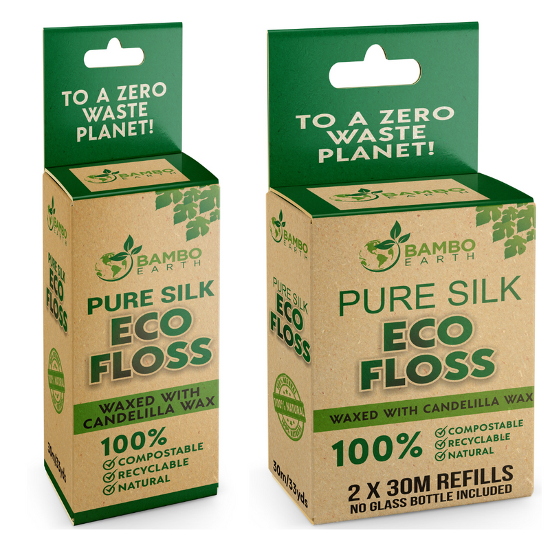Eco Dental Floss With Glass Jar Container