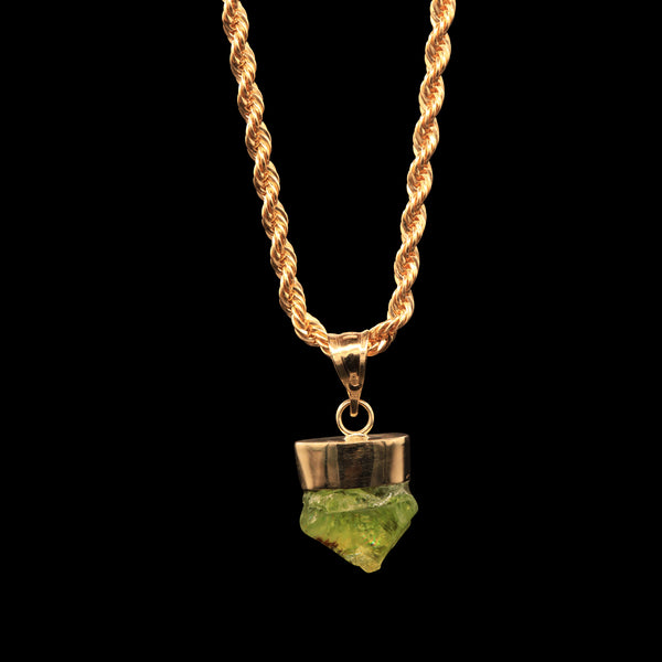 8 CARAT NATURAL UNTREATED SOUTH AFRICAN PERIDOT GEM ON ROPE