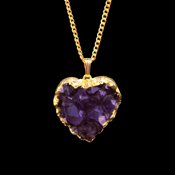 Amethyst Druzy Heart on Curb
