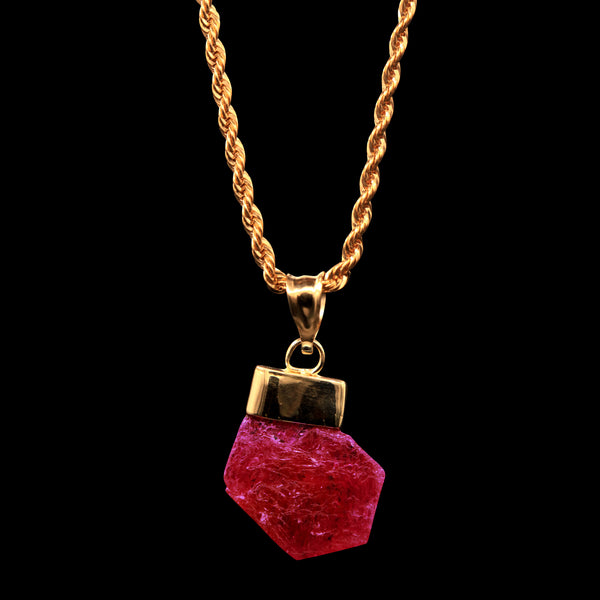 10.11 Carat Natural Untreated Tanzanian Ruby Gem on Rope