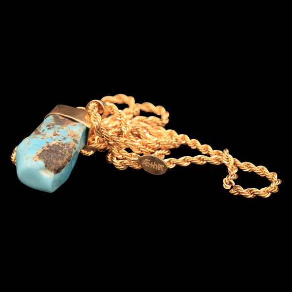18.3 CARAT NATURAL UNTREATED MEXICAN TURQUOISE GEM ON ROPE