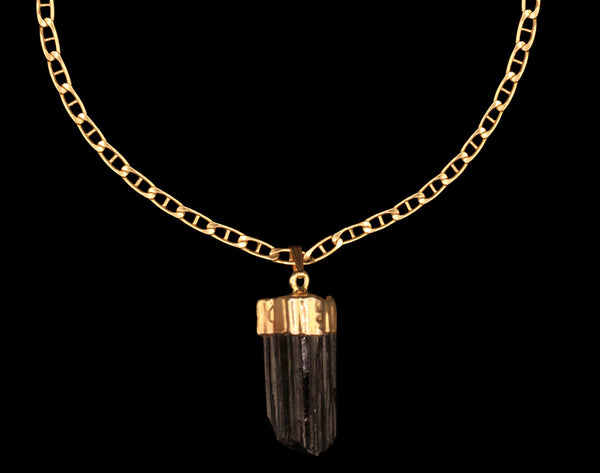 Raw Black Tourmaline Choker on Mariner