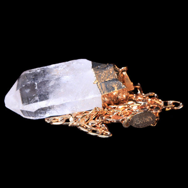 Clear Quartz Point on Curb