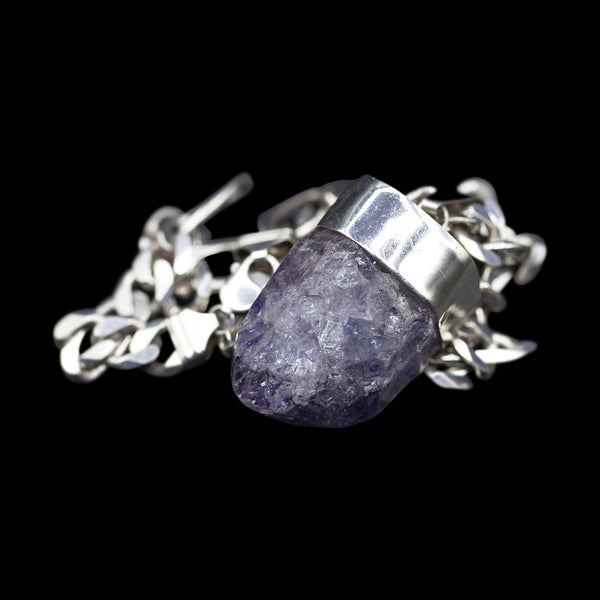 Colossal Purple Crackle Quartz on Figaro