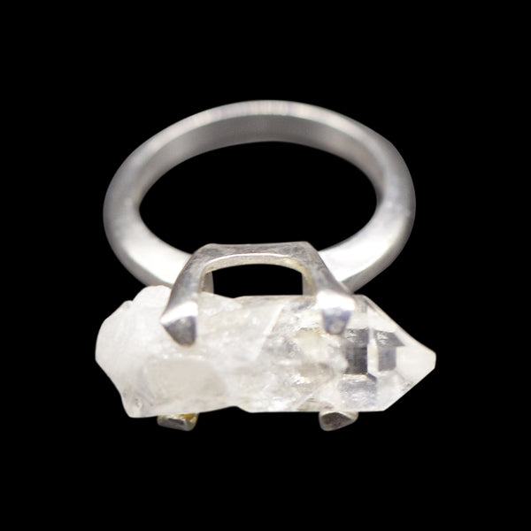Raw Quartz Point Sterling Silver Ring