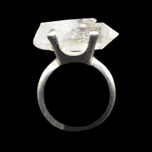 Raw Quartz Sterling Silver Ring