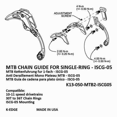 K-EDGE MTB Chain Guide for Single Ring ISCG 05