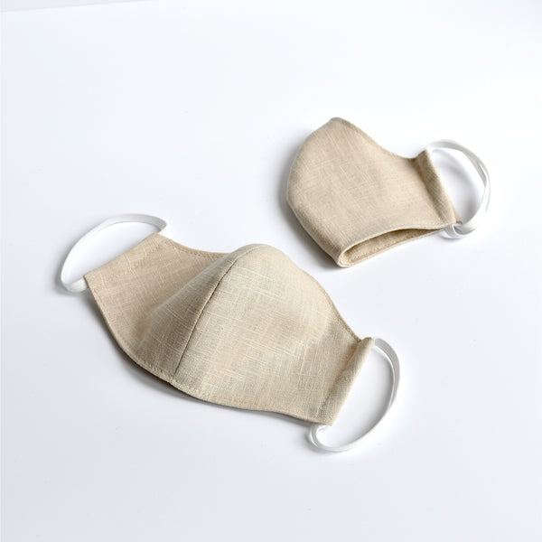 Natural linen fabric face mask, face covering handmade by Stitch Galore
