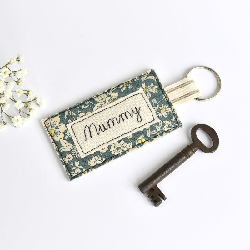 Personalised Mummy key ring, personalised new home keyring by Stitch Galore