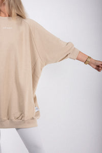Elias Rumelis Sweat milky beige, oversized