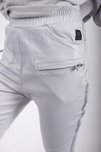 Elias Rumelis shiny loose fit pants silver grey