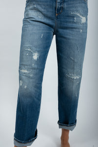 Closes Jeans Gill mid blue destroyed