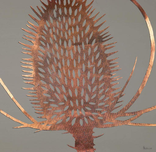 Canvas Print named Copper teasel