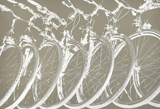 Canvas print with repeating Bicycle Motif