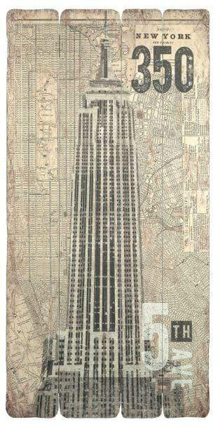 Wooden Panels Print - Empire State Building
