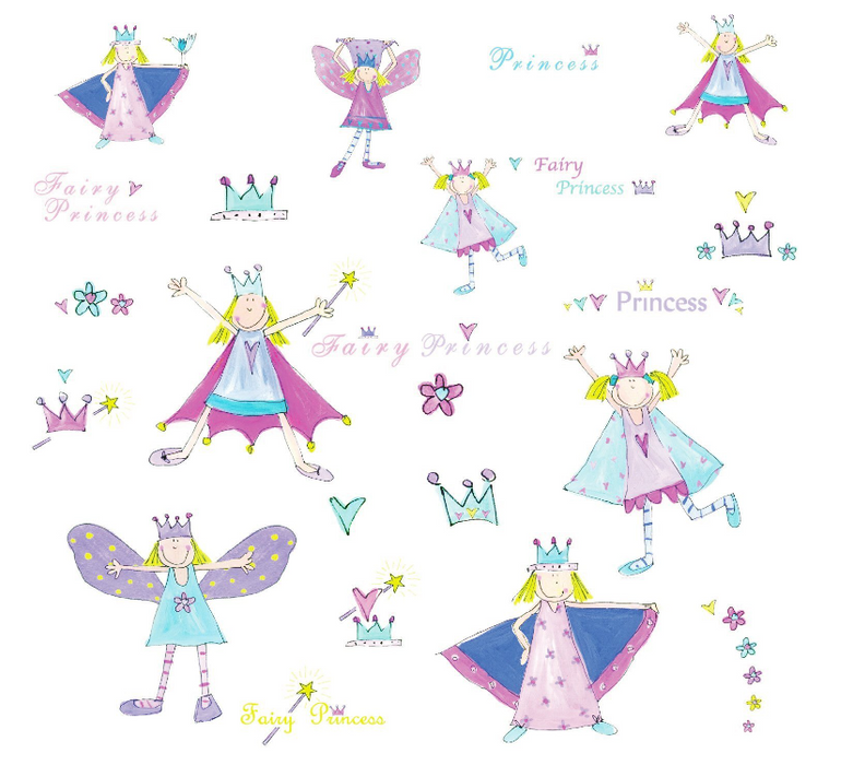 Roommates - Fairy Princess Applique (Peel and Stick).