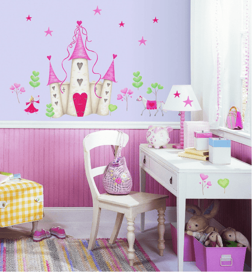 Fairy Castle themed wall sticker for girls' room