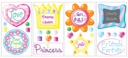 Wall stickers for girls' room
