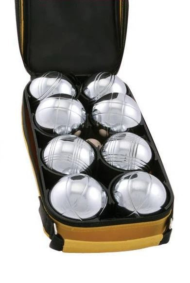 Easy Days - Family Petanque (Boules) Set. ( In a yellow canvas bag)