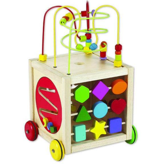 large activity centre for young child with wheels