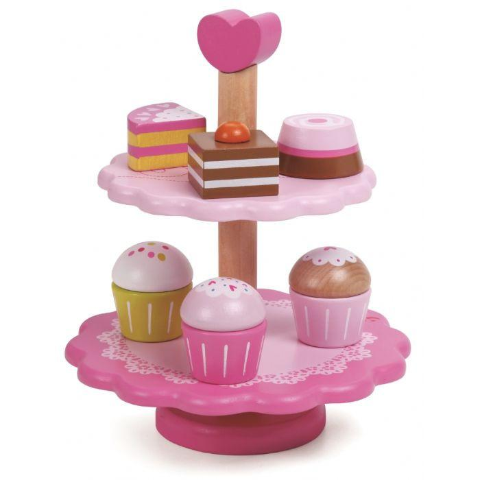 Young girl's cupcake holder toy.