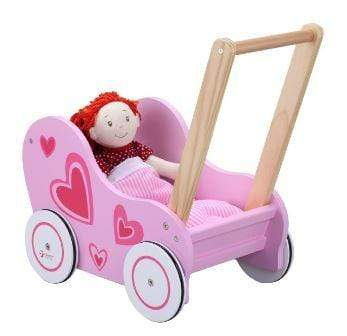 Pink pram for a doll
