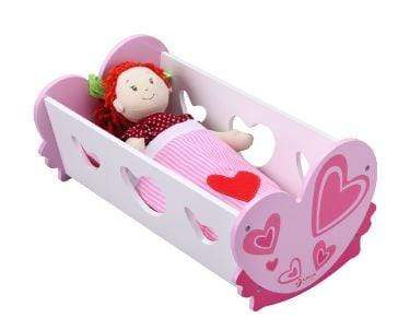 Pink doll's cradle