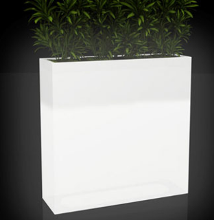 Large rectangular LED flowerpot with several plants growing.