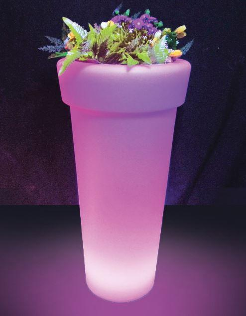 Large and tall LED flower pot
