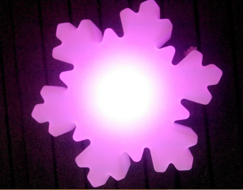 Snowflake-shaped  LED object.