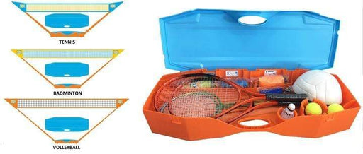 3-in-1 family games set. tennis, badminton and volleyball