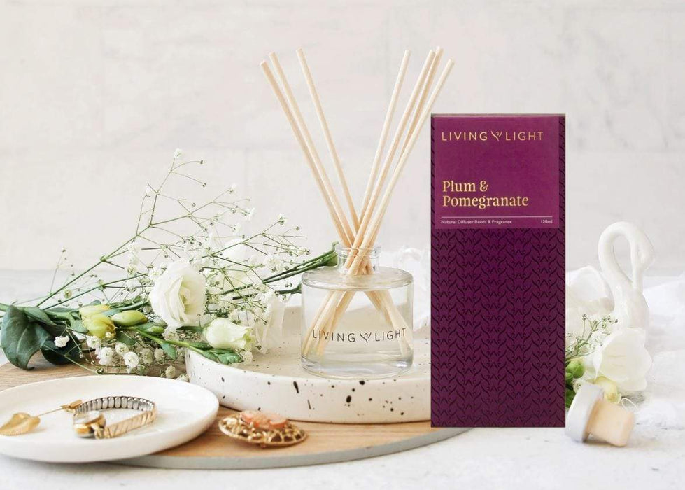 Plum and Pomegranate Scented diffuser showing packaging