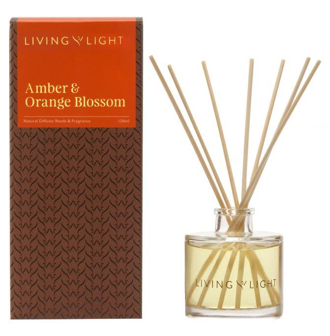 Amber and Orange Blossom Scented diffuser showing packaging