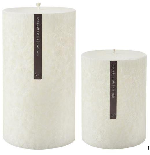Large fragrant luxury granite pillar with 145 hr burn time