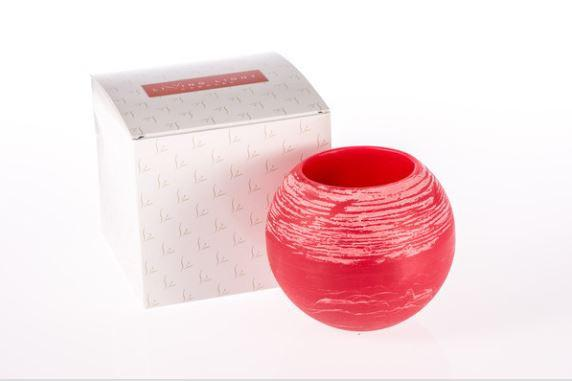 Red Hollow candle lantern with packaging.