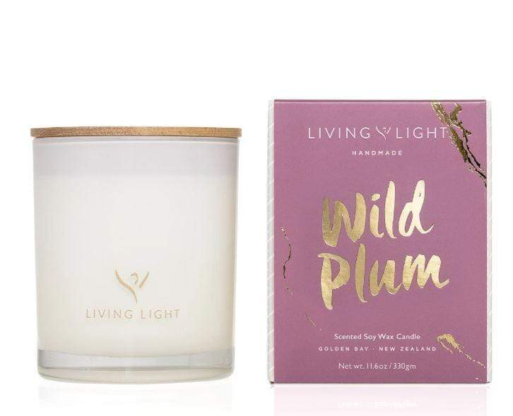 Wild plum scented wax candle in jar