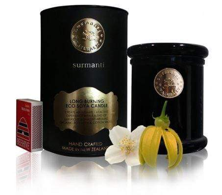 Surmanti Scented Eco Soya Candle - Long Burning. Jasmine and Ylang-Ylang scent.