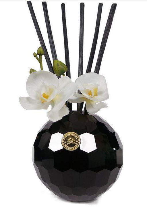 Diffuser set by Surmanti in beautiful crystal container