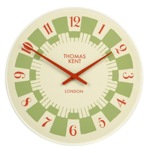 35 cm retro-styled green clock