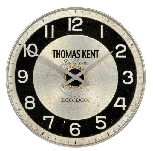 35 cm aged in black and white clock